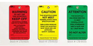 Warning & Safety OEM Tags